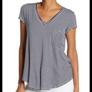 H By Bordeaux Short Sleeve Striped Tee